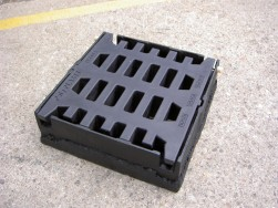 Plastic street gully sewer grid